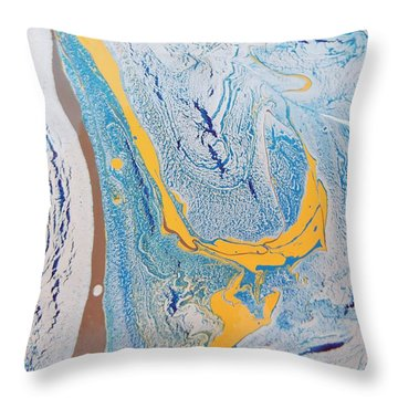 African Dolphin Coast Throw Pillow