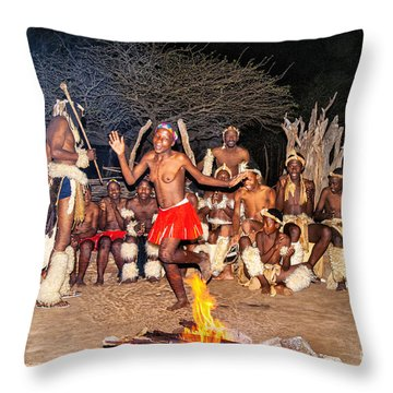 African Fire Dance Throw Pillow