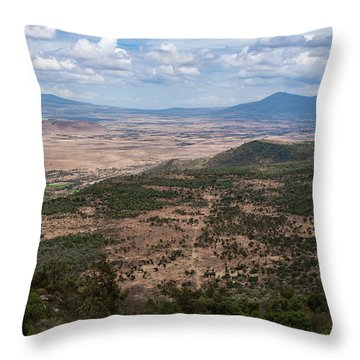 African Great Rift Valley Throw Pillow by Aidan Moran