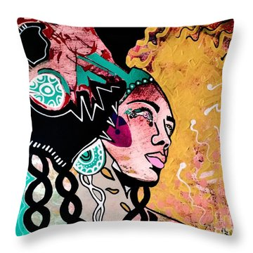 African Gypsy Throw Pillow