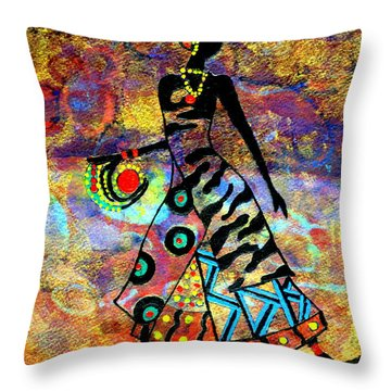 African Healer New Color Throw Pillow
