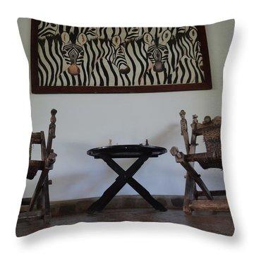 African Interior Design 1 Throw Pillow