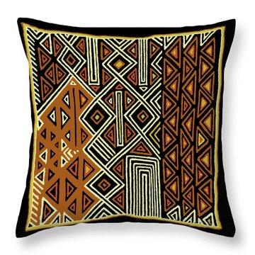 Throw Pillow featuring the digital art African Kuba View From Earth by Vagabond Folk Art - Virginia Vivier