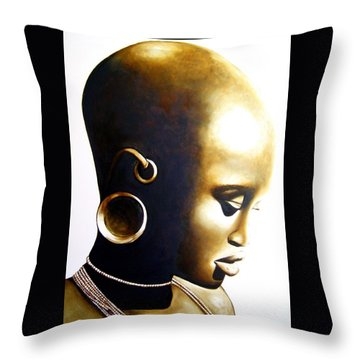 African Lady - Original Artwork Throw Pillow