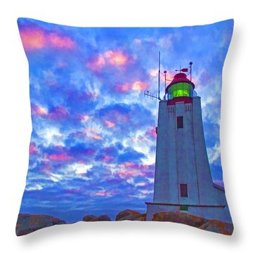 African Lighthouse Throw Pillow