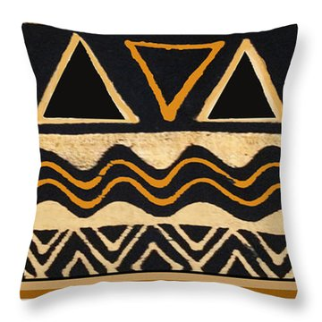 African Primordial Spirits - 2 Throw Pillow
