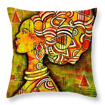 African Queen Throw Pillow