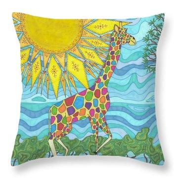 African Rainbow Throw Pillow