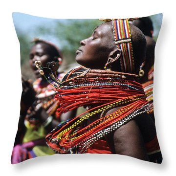 African Rhythm Throw Pillow