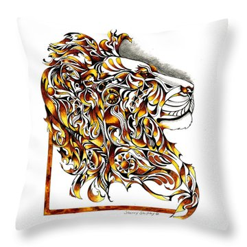 African Spirit Throw Pillow