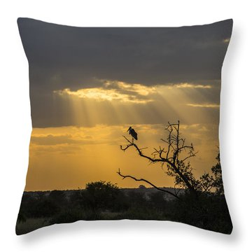 African Sunset 2 Throw Pillow by Kathy Adams Clark