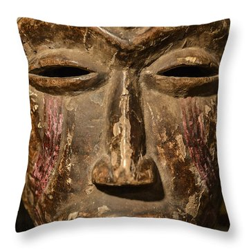 African Tribal Mask. Throw Pillow by John Greim
