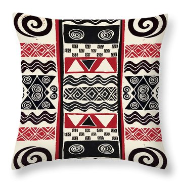 African Tribal Ritual Design Throw Pillow
