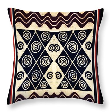 African Tribal Textile Design Throw Pillow