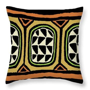 Throw Pillow featuring the digital art African Tribal Textile by Vagabond Folk Art - Virginia Vivier