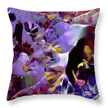 African Violet Awake #2 Throw Pillow