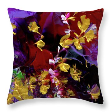 African Violet Awake #3 Throw Pillow