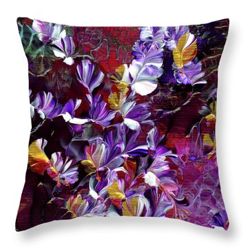 African Violet Awake #4 Throw Pillow