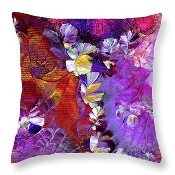 African Violet Awake #5 Throw Pillow