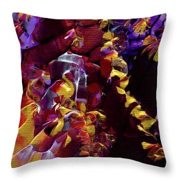 African Violet Awake Throw Pillow