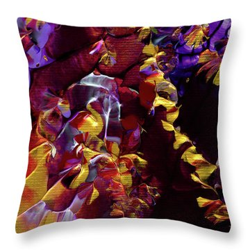 African Violet Awake Throw Pillow