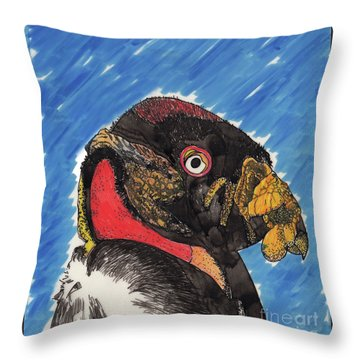 African Vulture Throw Pillow