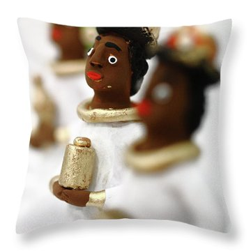 African Wise Men Throw Pillow by Gaspar Avila