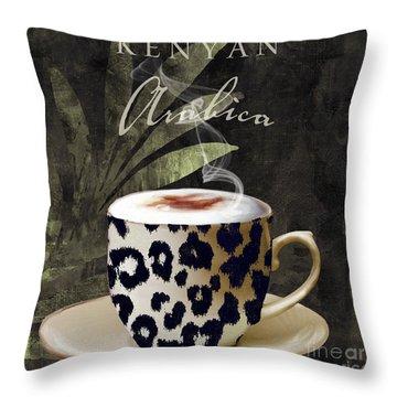 Afrikan Coffees IIi Throw Pillow