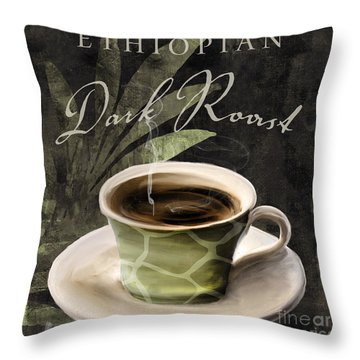 Afrikan Coffees Iv Throw Pillow