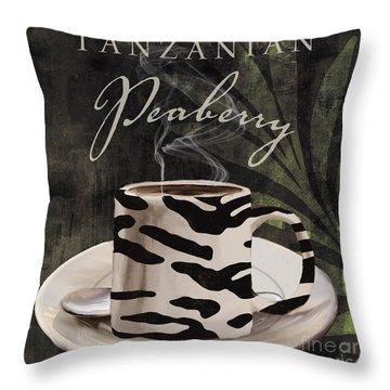 Afrikan Coffees Throw Pillow