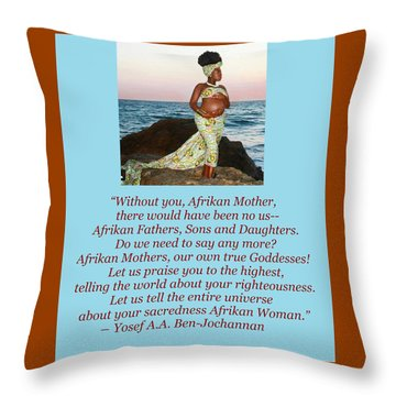 Afrikan Mother Throw Pillow