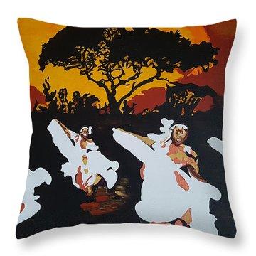 Afro Carib Dance Throw Pillow