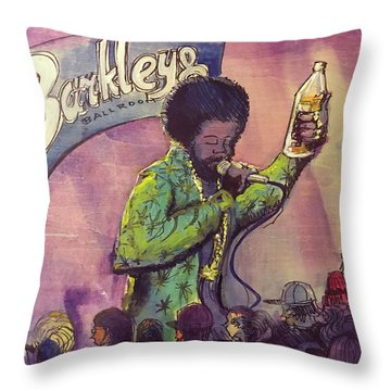 Throw Pillow featuring the painting Afroman At Barkleys by David Sockrider