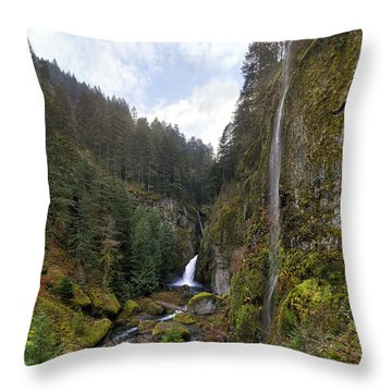 After A Rainstorm Throw Pillow by David Gn