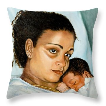 After Birth Jacina And Javon Throw Pillow