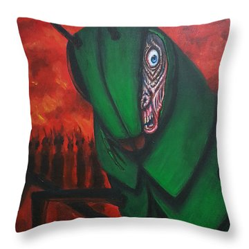 After Bob Died He Realized He Had Made Poor Life Choices. Throw Pillow