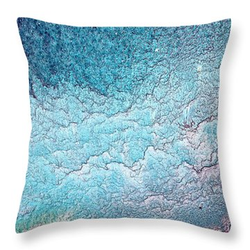 After Dark Crush Liquid Abstract Art Fluid Painting By Kredart  Throw Pillow