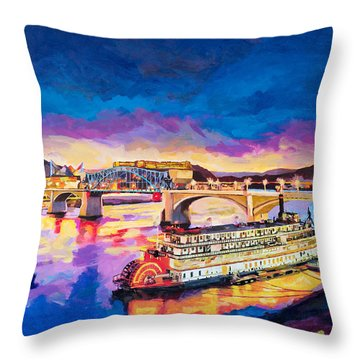 After Dusk Painting Throw Pillow