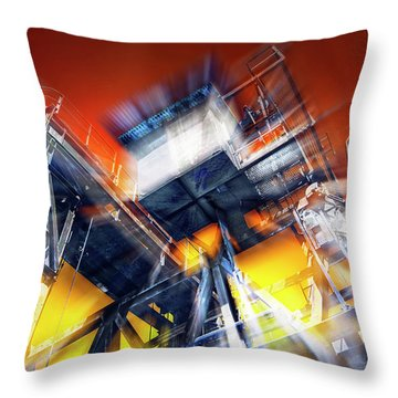 Throw Pillow featuring the photograph After Effect by Wayne Sherriff