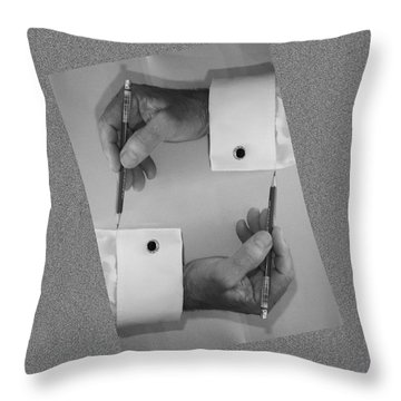 After Escher Throw Pillow