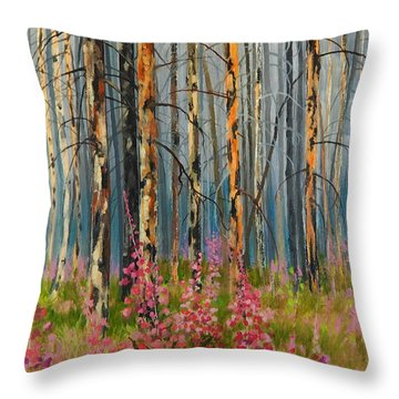 After Forest Fire Throw Pillow