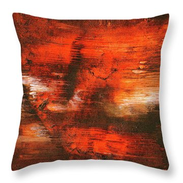 After Midnight - Black Orange And White Contemporary Abstract Art Throw Pillow