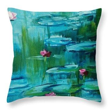 After Monet Throw Pillow