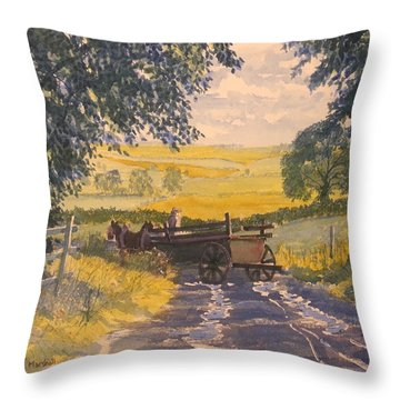 After Rain On The Wolds Way Throw Pillow