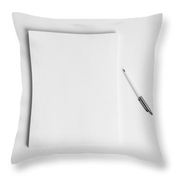 To Be Filled In Anyway You Like It Throw Pillow by Yvette Van Teeffelen