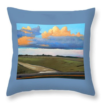 Throw Pillow featuring the painting After Shower by Gary Coleman