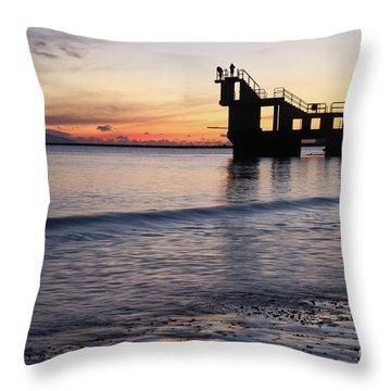 After Sunset Blackrock 2 Throw Pillow