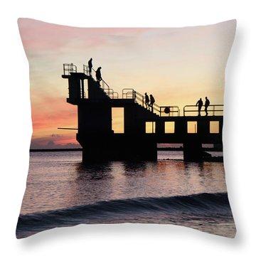 After Sunset Blackrock 4 Throw Pillow