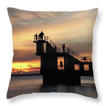 After Sunset Blackrock 5 Throw Pillow
