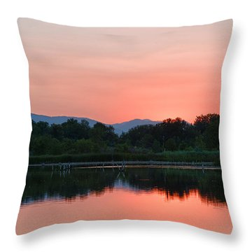 Throw Pillow featuring the photograph After Sunset by Monte Stevens